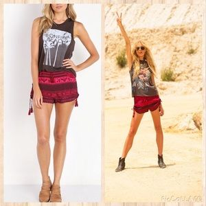 Spell And The Gypsy Phoenix Shorts Magenta Red